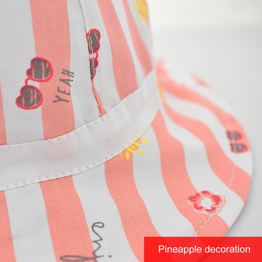 Happy Cherry Cute Sweet Summer Sun Protection Hat String Closure Wide Brim for Toddler Baby Kids Girls