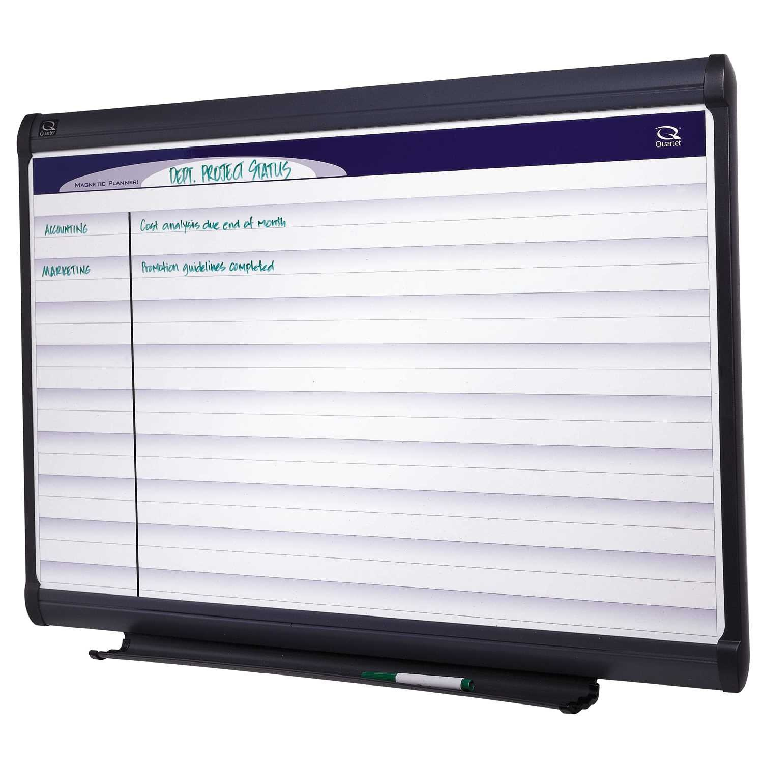 Quartet PP132 Quartet Horizontal Format Planning System, Porcelain, 36x24, WE/Aluminum Frame
