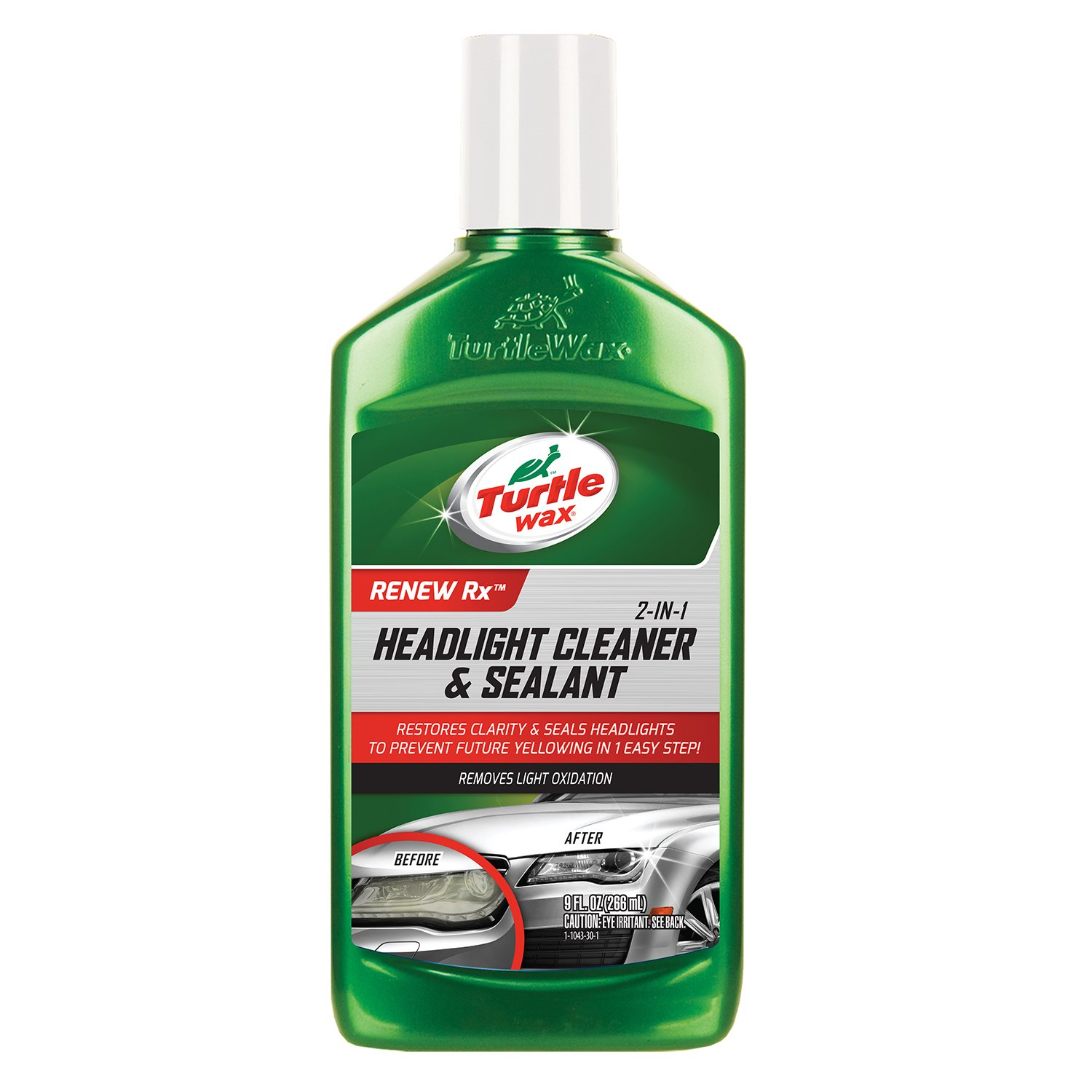 Turtle Wax T-43 (2-in-1) Headlight Cleaner and Sealant - 9 oz. T43
