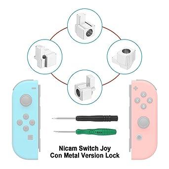 MYPIN Kit de réparation de verrous métalliques pour Nintendo Switch NS Joy  Con avec tournevis 07a92a391f3