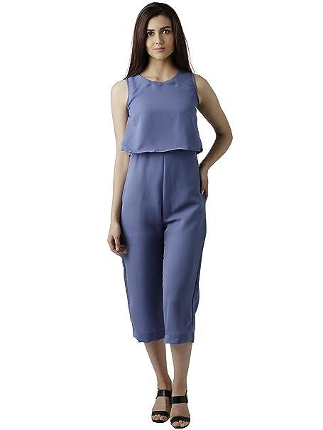 9f351d9369a5 Miss Chase Women s Blue Midi Layered Jumpsuit(MCAW17D09-61-115-02 Blue X-