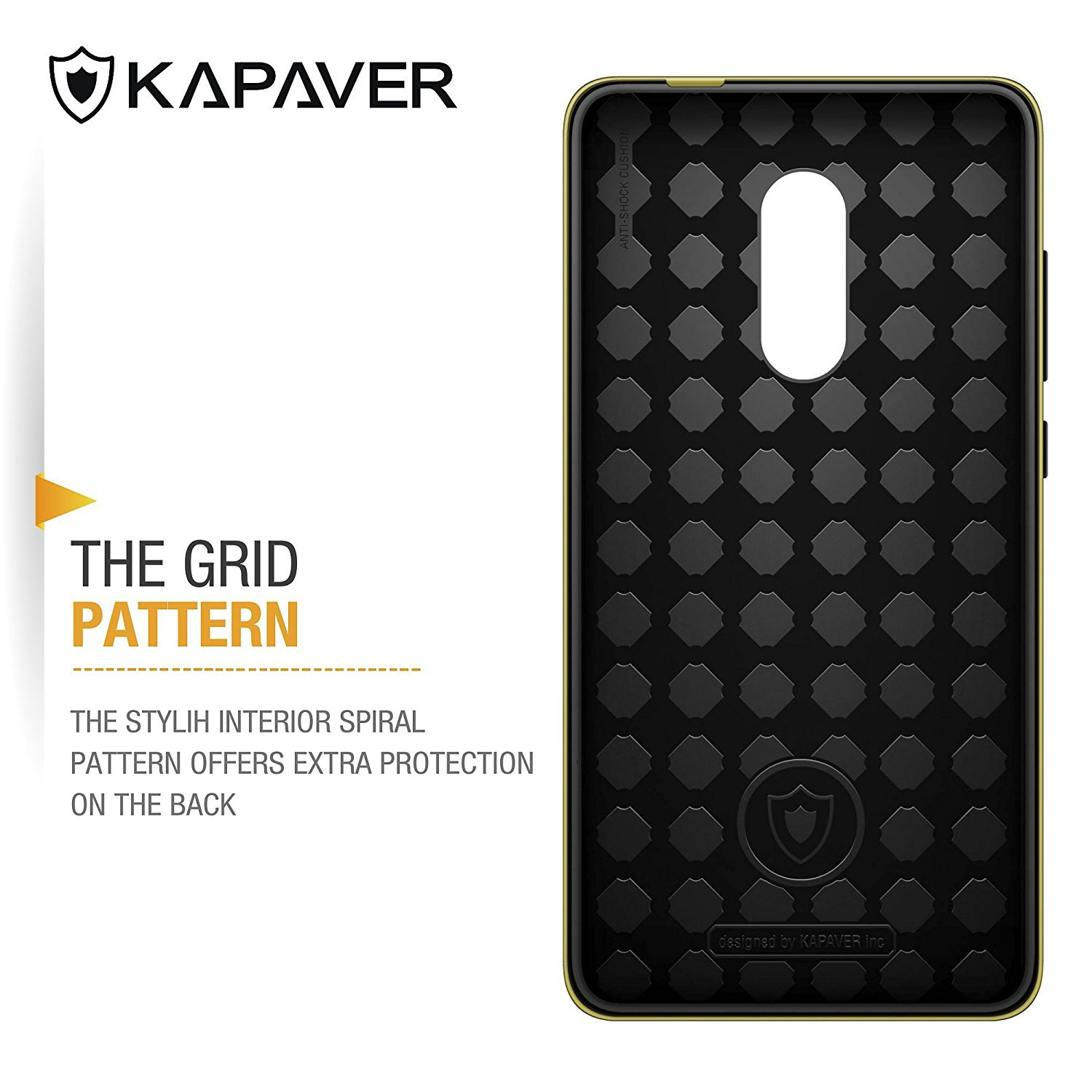 Amazon Kapaver Xiaomi Redmi Note 4 Hybrid Dual Protection Back Cover case Media Tek Version Hybrid Dual Gold Cell Phones & Accessories