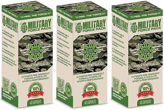 Cvetita Herbal, 3 x Military Force Pack, fórmula pre entrenamiento ...