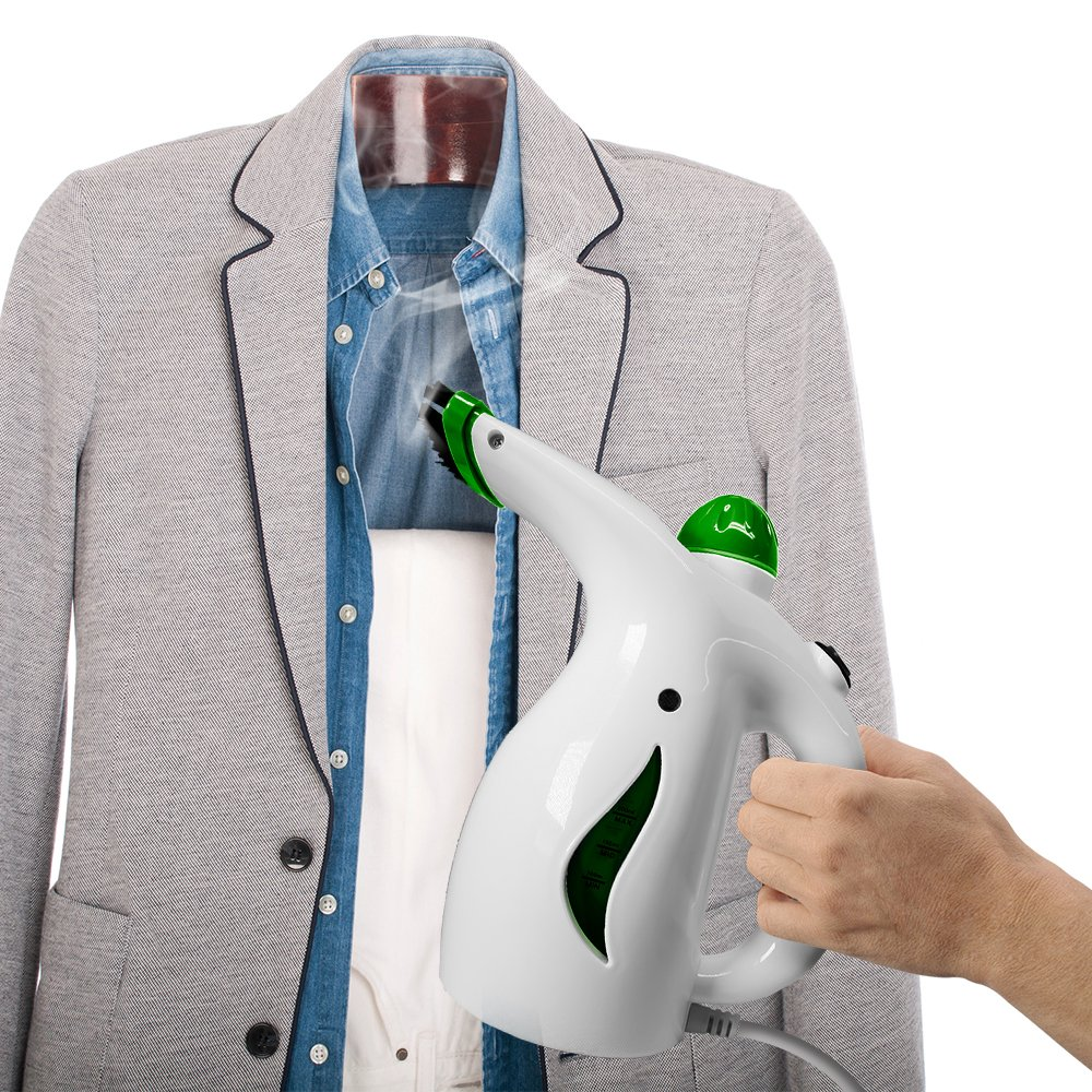 Green Swift Steamer Portable Handheld Fabric Garment Steamer for Home /& Travel