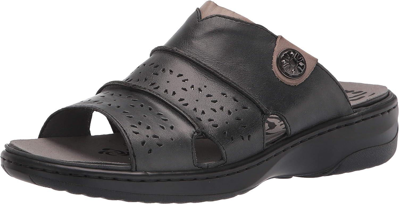 Propet Luxury goods Women's Gertie Slide Black Sandal Wide 12 Dallas Mall