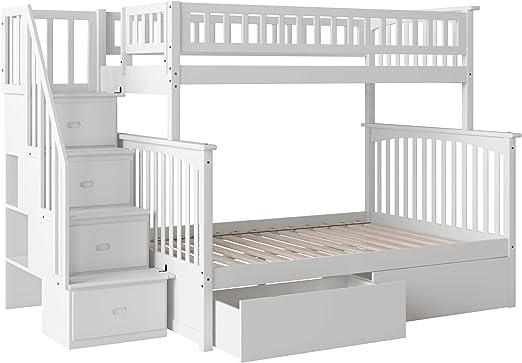 Atlantic Furniture Columbia - Litera para Escalera con cajones de Cama: Amazon.es: Juguetes y juegos