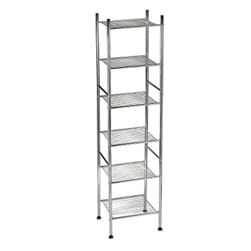 """Amazon.com: 6-Tier Tower Shelf in Chrome Finish – 56"""" High & Space ..."""