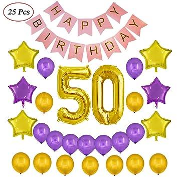 Echolife 50th Birthday Party Decorations Kit