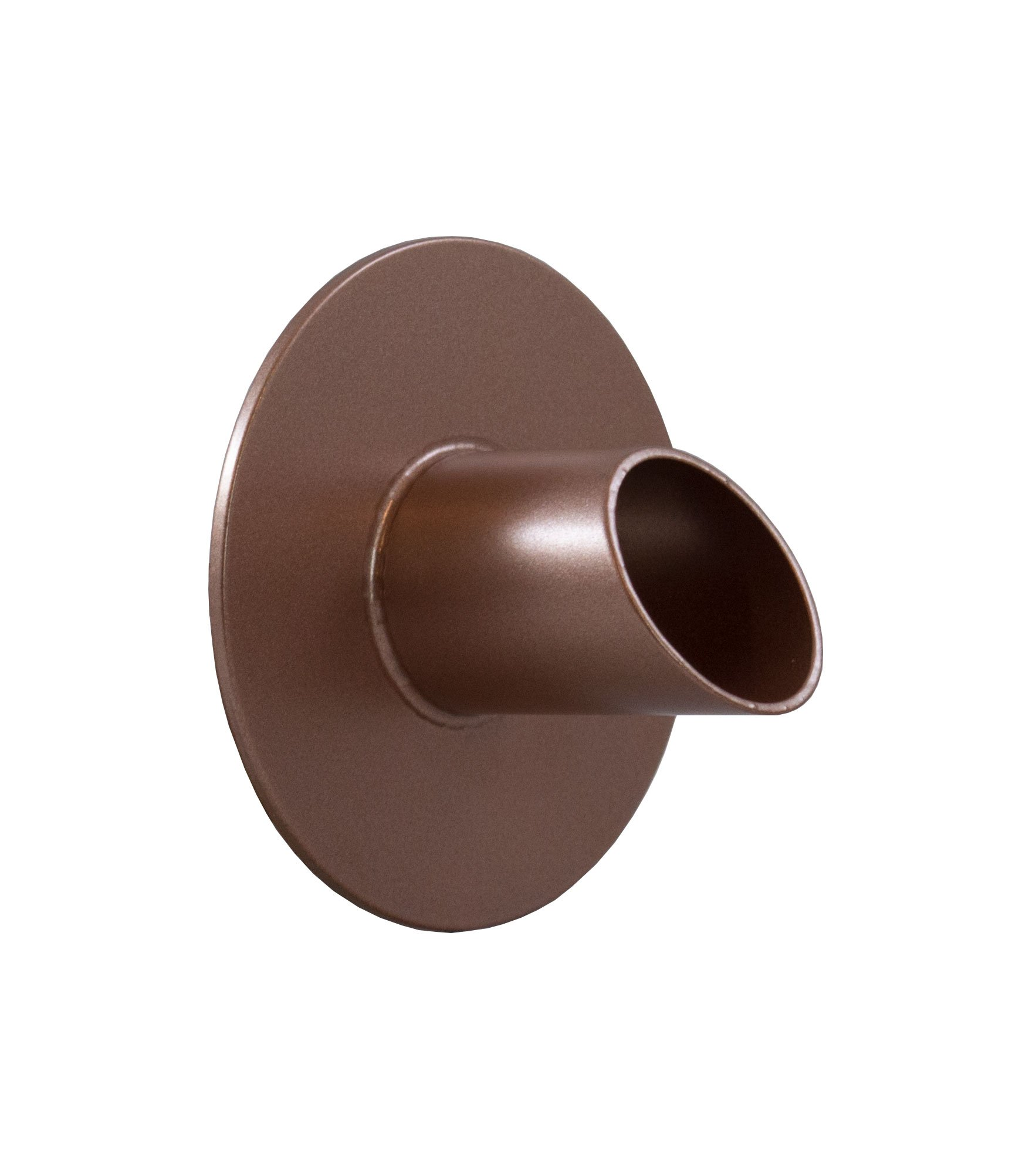 Majestic Water Spouts Waverly 1.5'' Round Water Fountain Spout Scupper Spillway Emitter for Pool, Pond, Water Feature, Etc - Copper