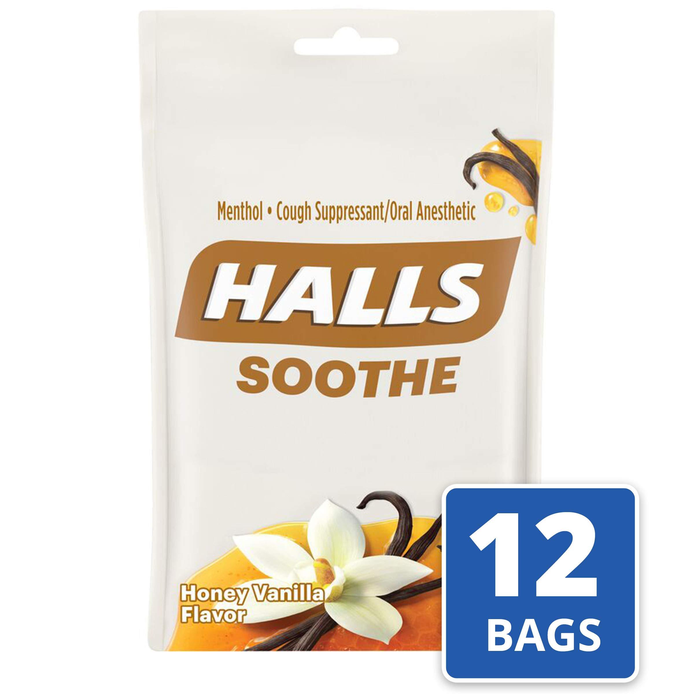 Halls Honey Vanilla Cough Drops - 360 Drops (12 bags of 30 drops) by Halls