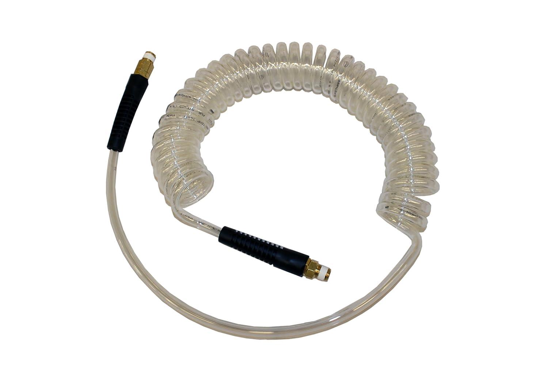 ATP Technithane Polyurethane Auto Spiral Hose, Clear, 1/4' ID x 3/8' OD, 31 feet Length/25 feet Working Length, 1/4' NPT Male 1/4 ID x 3/8 OD 1/4 NPT Male Advanced Technology Products (ATP)