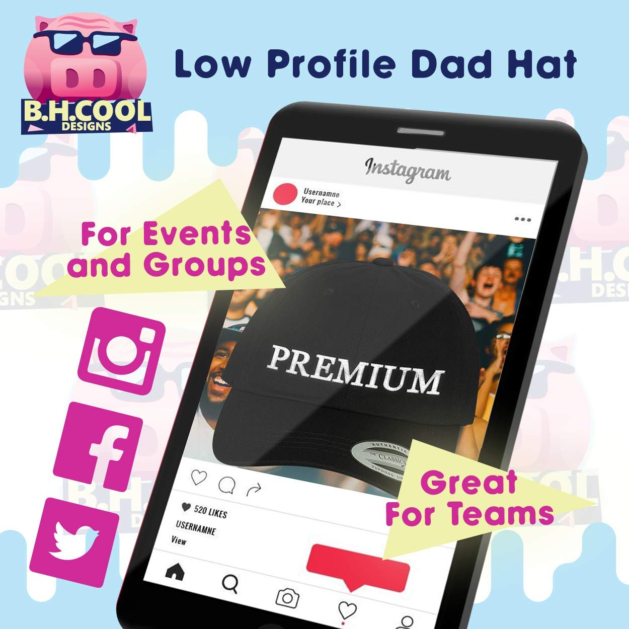 Comfortable Dad Hat Baseball Cap BH Cool Designs got Luxembourg?