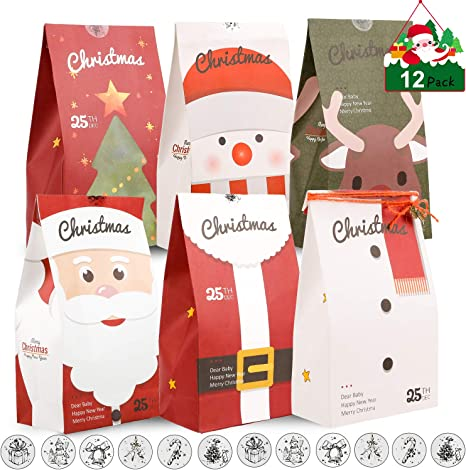 Christmas Kids Gift Candy Bags Santa Claus Snowman Storage Bag Xmas MA