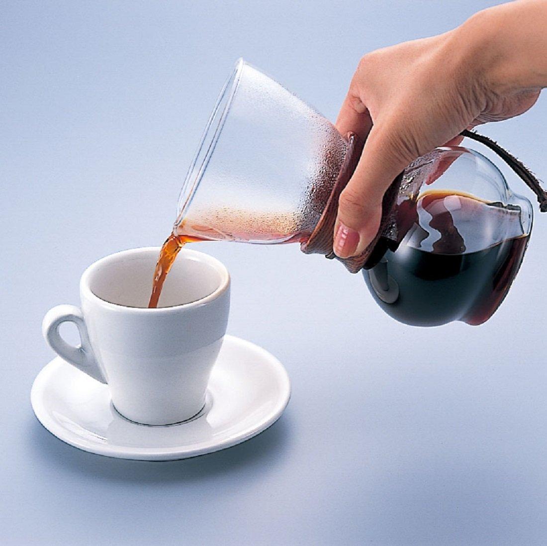 Hario woodneck coffee drip pot - Hario 1 Piece 240 Ml Glass Drip Pot Natural Amazon Co Uk Kitchen Home