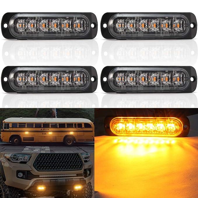 45 144W COB LED Work Light Bar Beacon Tow Truck Emergency Light Hazard Warning Light Strobe Lamp Traffic Light Flashing Light HEHEMM Traffic Emergency Light Amber /& White