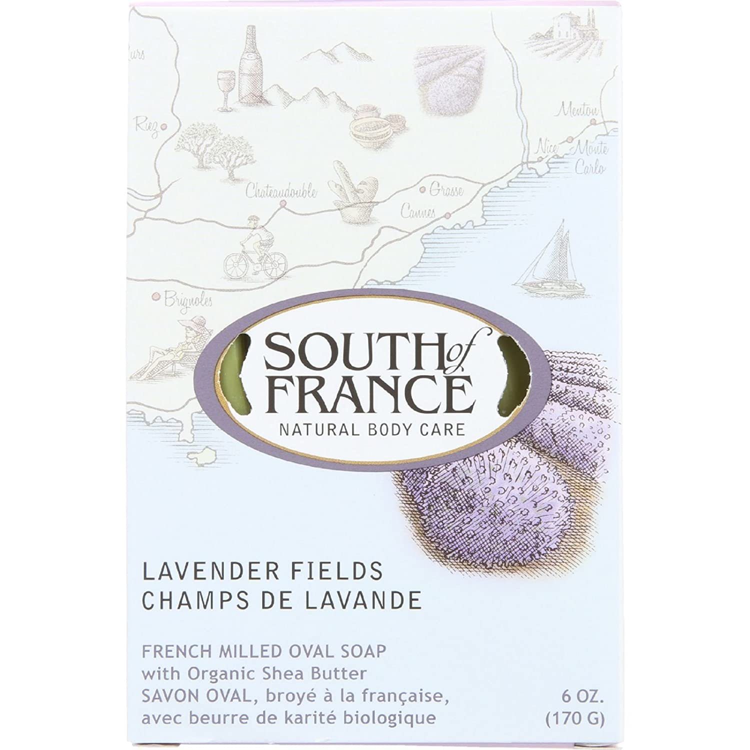 South Of France Soap Bar Lavender Fields U-Nutra