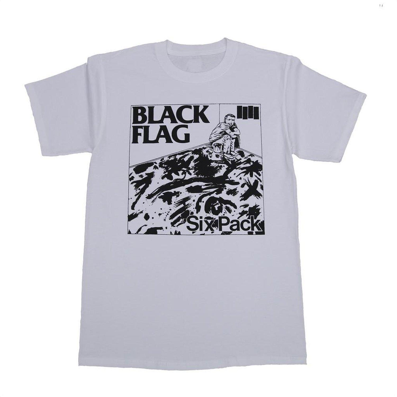 Black flag t shirt europe - Sst Men S Black Flag Six Pack T Shirt X Large White