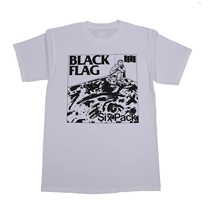 39d25a744 SST Superstore Black Flag Six Pack T-Shirt Small White