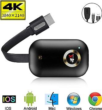 Adaptador inalámbrico de pantalla Dongle, 5G/2.4G WiFi, receptor de pantalla portátil 1080P HDMI, Dongle Receptor Miracast DLNA Airplay para iOS/Android/Mac/Window/TV/Monitor/Proyector: Amazon.es: Electrónica