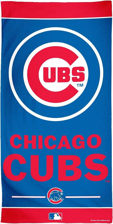 WinCraft MLB Chicago Cubs Fiber Beach Towel Multicolor 30 x 60