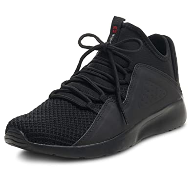 3918bf0d9e4d alpine swiss Enzo Mens Fashion Sneakers Lightweight Knit Lace Up Tennis  Shoes Black 7 M US