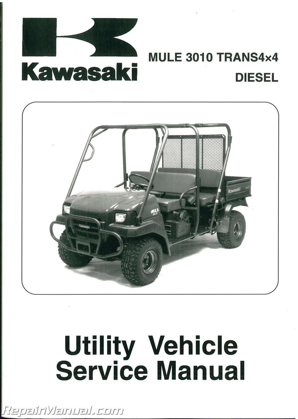 99924-1368-02 2007 Kawasaki KAF950C MULE 3010 Trans4x4 Diesel Service Manual:  Manufacturer: Amazon.com: Books