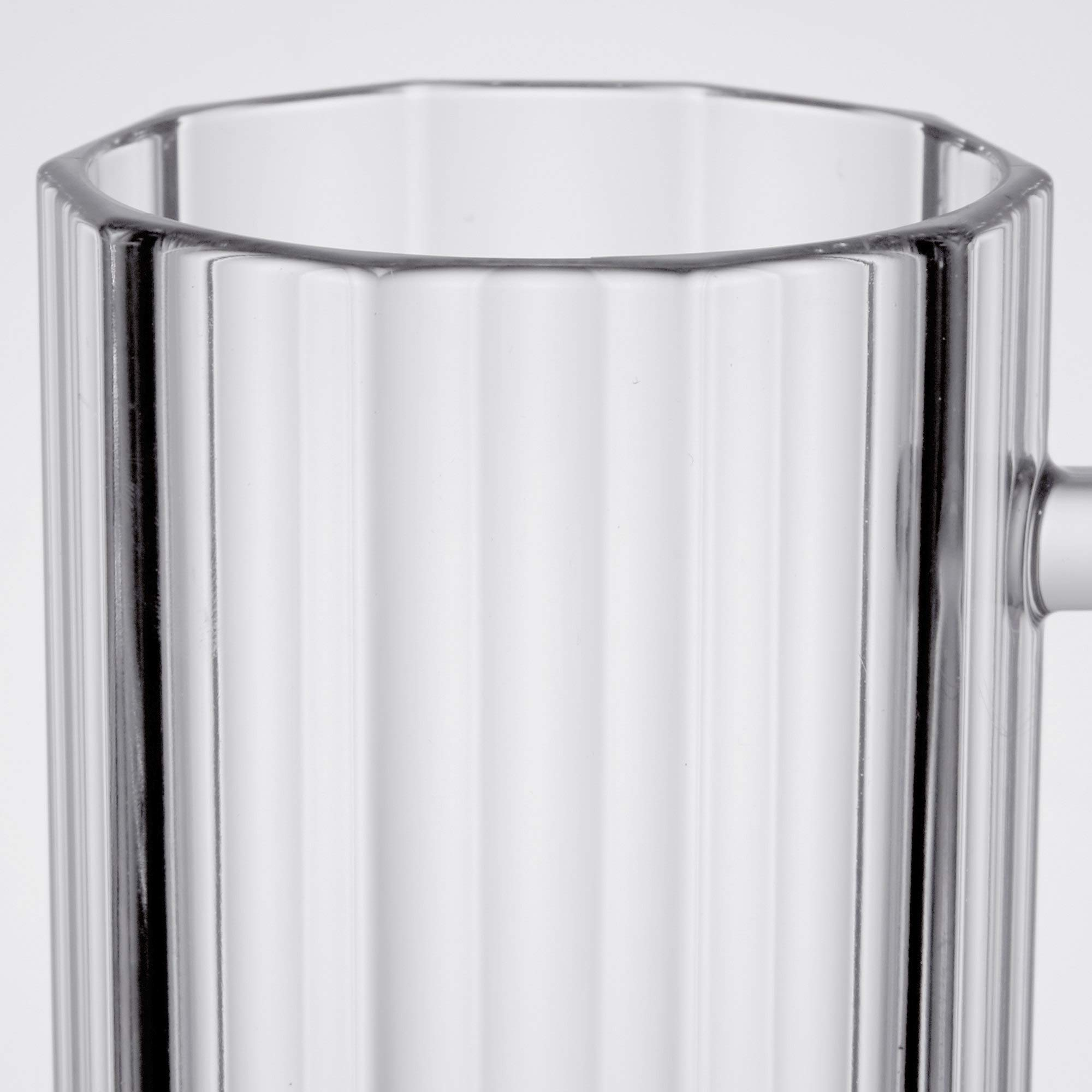 20 oz. Polycarbonate Plastic Beer Mugs with Handles, Reusable Dishwasher Safe Plastic for Indoor/Outdoor Use, by GET 00087-PC-CL-EC (Pack of 4)