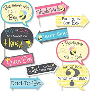 product image for Funny What Will It Bee - Gender Reveal Photo Booth Props Kit - 10 Piece