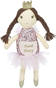 Maison Chic | Princess Caroline Tooth Fairy Pillow Stuffed Plush Doll with Pocket | Perfect First Loose Tooth Gift for Daughter, Granddaughter, Stepdaughter, Niece | Celebrate First Milestone