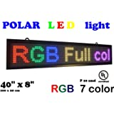 """LED RGB 7 color sign 40"""" x 8"""" with high resolution P10 and new SMD technology. Perfect solution for advertising"""