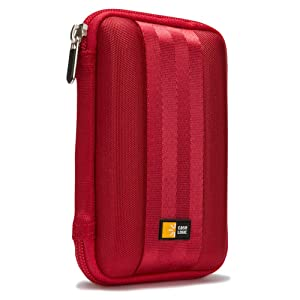 Case Logic Portable EVA Hard Drive Case QHDC-101 - Red
