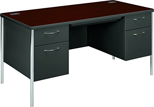Christopher Knight Home Orion L Shaped Office Desk with Tempered Glass Top