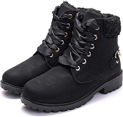 Ankle Boots Women Fur Lined Snow Shoes