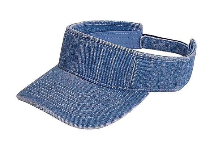 Pro Style Washed Light Blue Visor at Amazon Women s Clothing store ... 0c6e601410b3