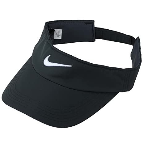 Amazon.com   Nike Golf Tech Visor (Black White)   Visors Headwear ... 74341a4f066