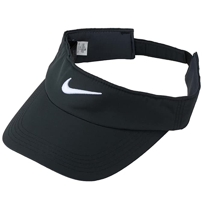 8449f800 Amazon.com : Nike Golf Tech Visor (Black/White) : Visors Headwear : Clothing