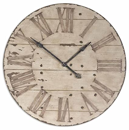 oversized rustic wall clocks Amazon.com: Large 36