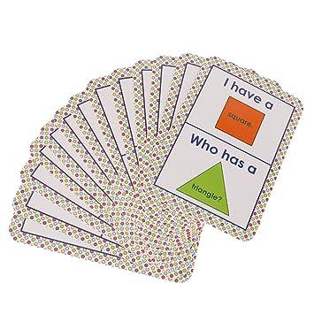 98954e71e Buy MagiDeal Pocket Educational Flash Cards Flashcards for School Classroom  Or Homeschool - 13Pcs Card- Shape Game