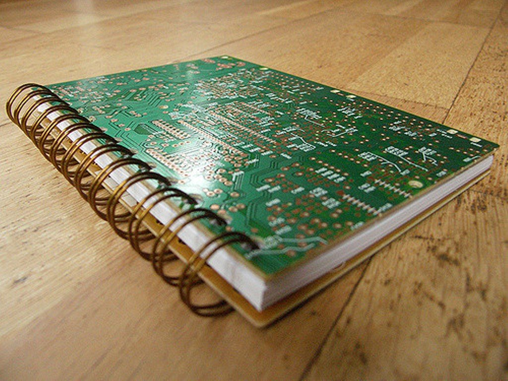 Recycled Computer Circuit Board Spiral Notebook Message Pad Eco Circuitboardnotebook Stationery Gifts Office Products