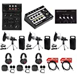 Rockville 3-Person Podcast Podcasting Recording Kit w/Mics+Stands+Headphones