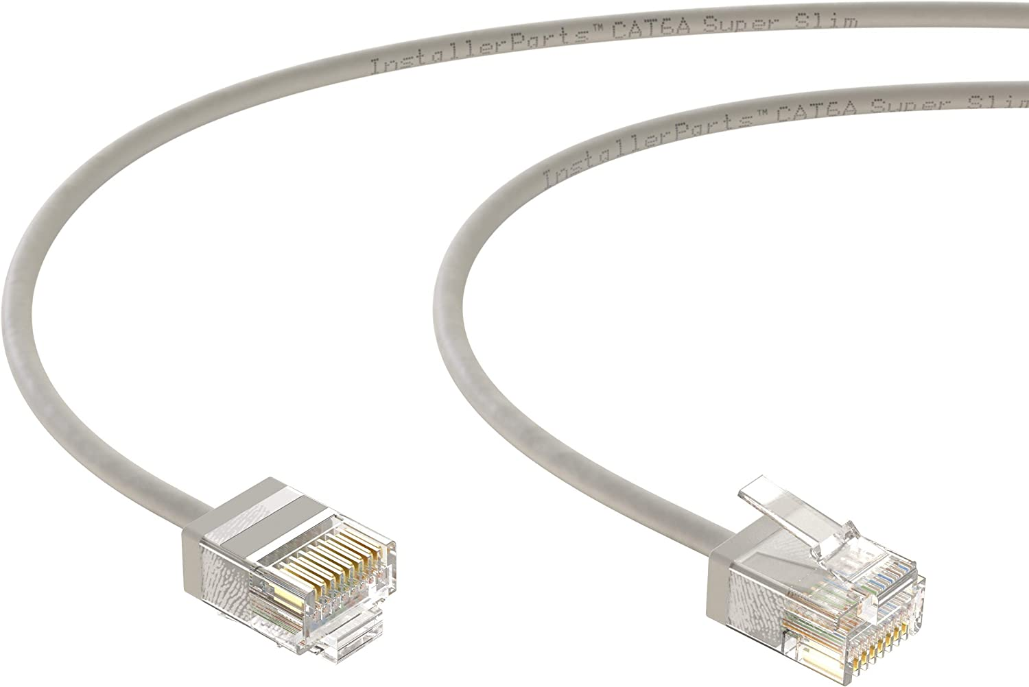 10Gigabit//Sec Network//High Speed Internet Cable 32AWG 550MHZ 50 Pack Professional Series InstallerParts Ethernet Cable CAT6A Super Slim Cable UTP 7 FT - Orange