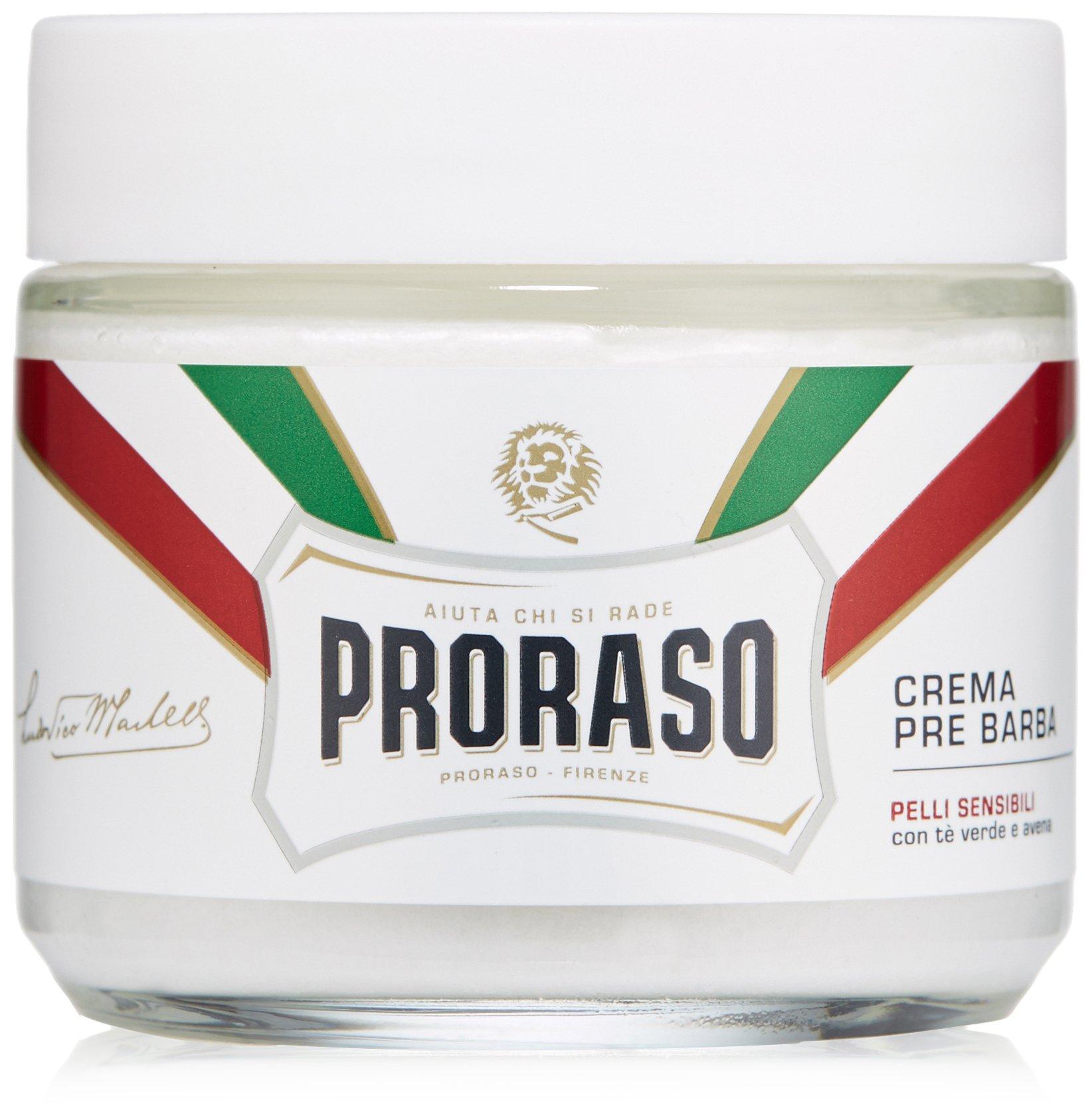 Proraso Pre-Shave Cream, Sensitive Skin, 3.6 oz