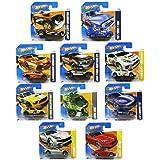 Mattel Lot de 10 petites voitures Hot Wheels
