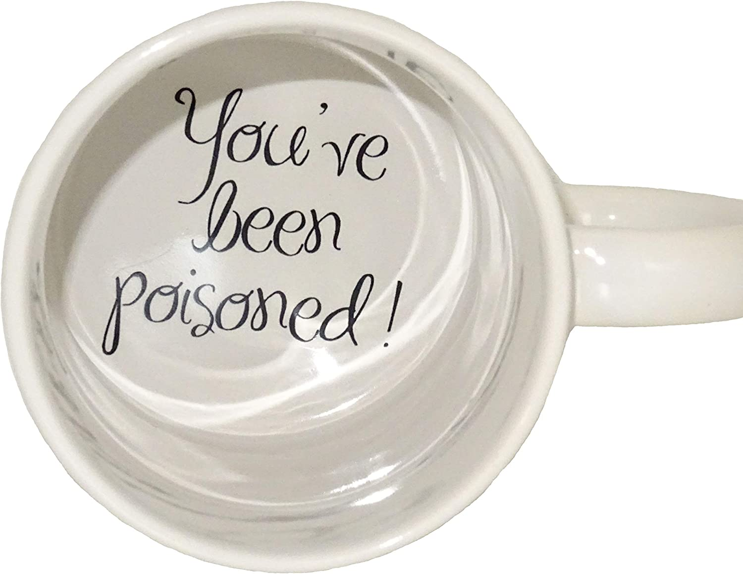Amazon Com You 2 Have Been Poisoned Coffee Mug Surprize Mug Father Grandmother Bottom Mug Hidden Message Secret Message Funny Cool Coffe Cup Kitchen Dining
