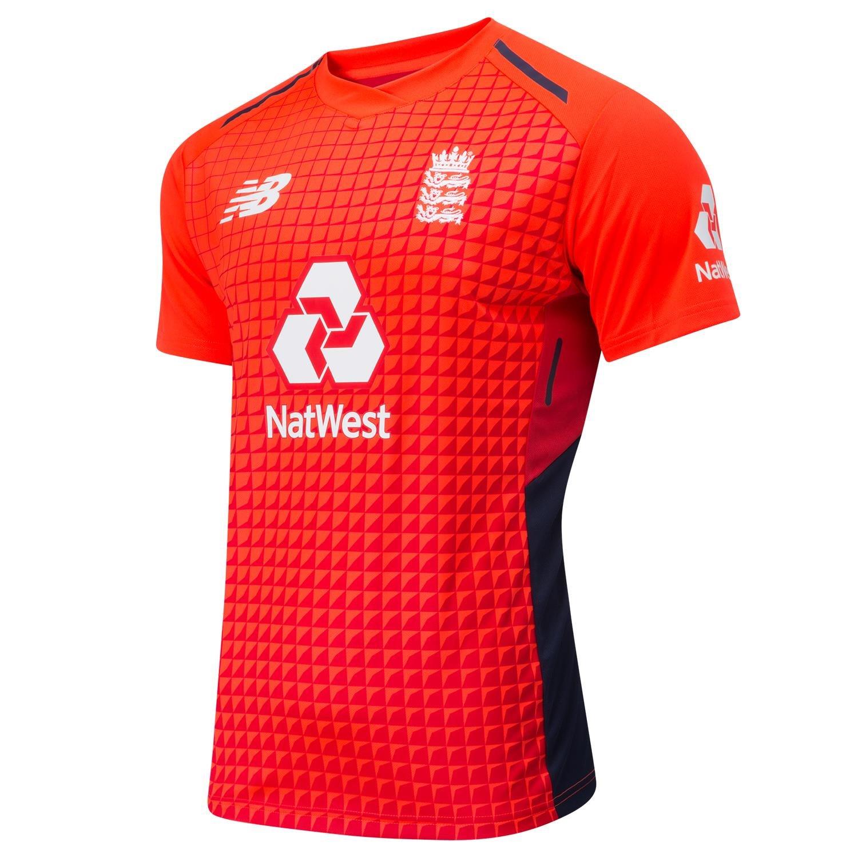 New Balance England Cricket Men's T20 Short Sleeve Replica T-Shirt CMT8008-FLM