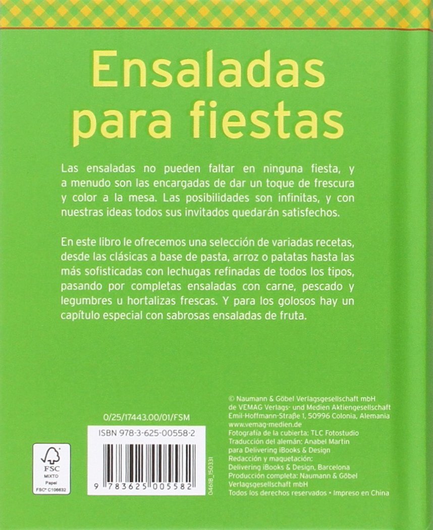 Ensaladas para fiestas: Frescas, variadas y llenas de color: Varios: 9783625005582: Amazon.com: Books