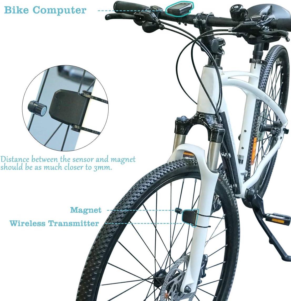 Velocímetro Bicicleta, DINOKA 23 functions Inalámbrico Cuentakilómetros para Bicicleta de Montaña Impermeable, 5 idiomas intercambiables para ciclismo Realtime Speed Track y distancia: Amazon.es: Deportes y aire libre