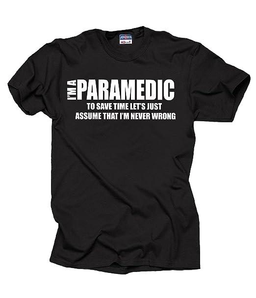 746e8067 Amazon.com: I Am Paramedic T-Shirt Funny Profession Tee Shirt: Clothing