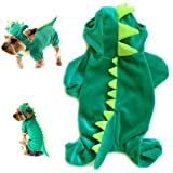 Gollyking Dog Cat Hoodie Plush Clothes Apparel Dragon Dinosaur Costume With Four Legs for Small Puppy Pets Jumpsuit Winter Coat Warm Crocodile Shirts
