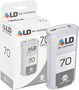 LD Remanufactured Ink Cartridge Replacement for HP 70 C9451A (Light Gray)